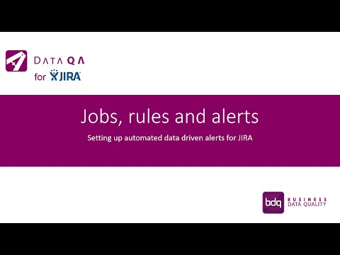 Jobs, Rules and Alerts