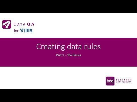 Creating Data Rules - Part 1