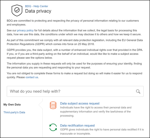 Image of Jira Service Desk Portal for GDPR