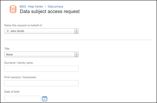 Atlassian Jira Service Desk Portl - GDPR data subject access request