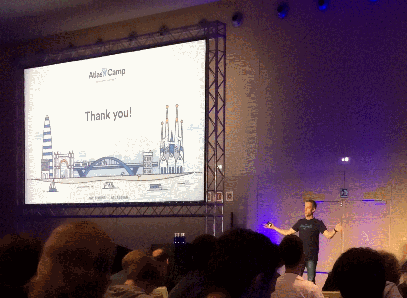 Jay Simmons, President of Atlassian, wrapping up AtlasCamp 2016