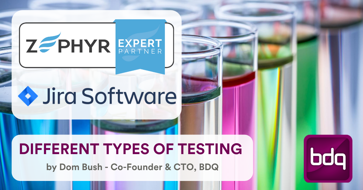 The different types of testing